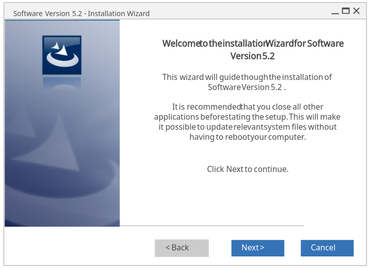 Software Installation Wizard - Step 1