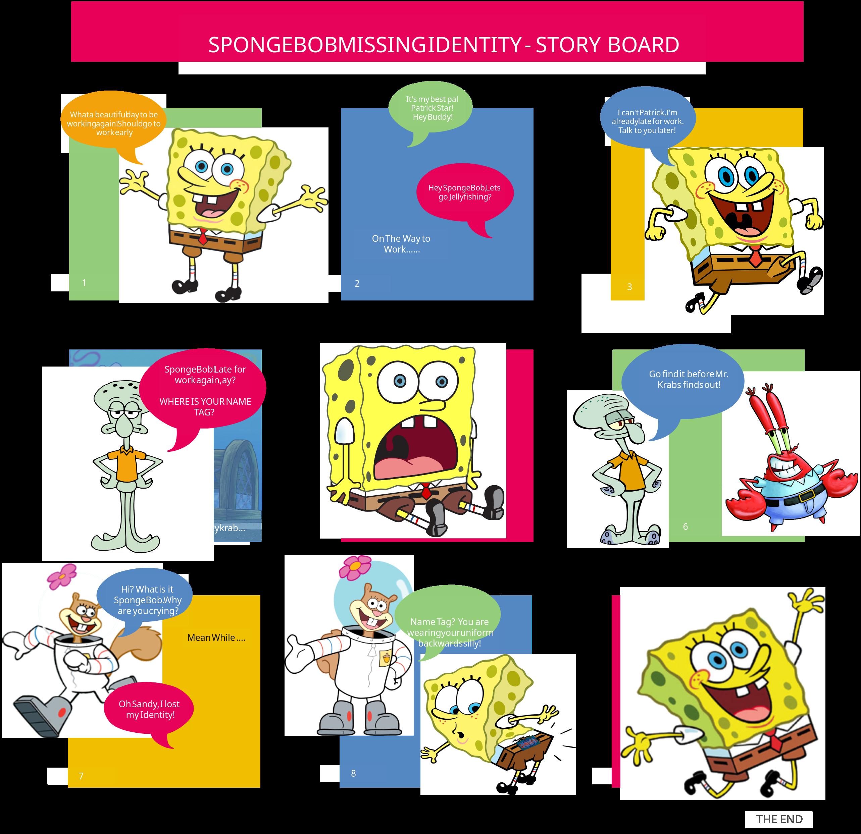 SpongeBob Squarepants Missing Identity Storyboard