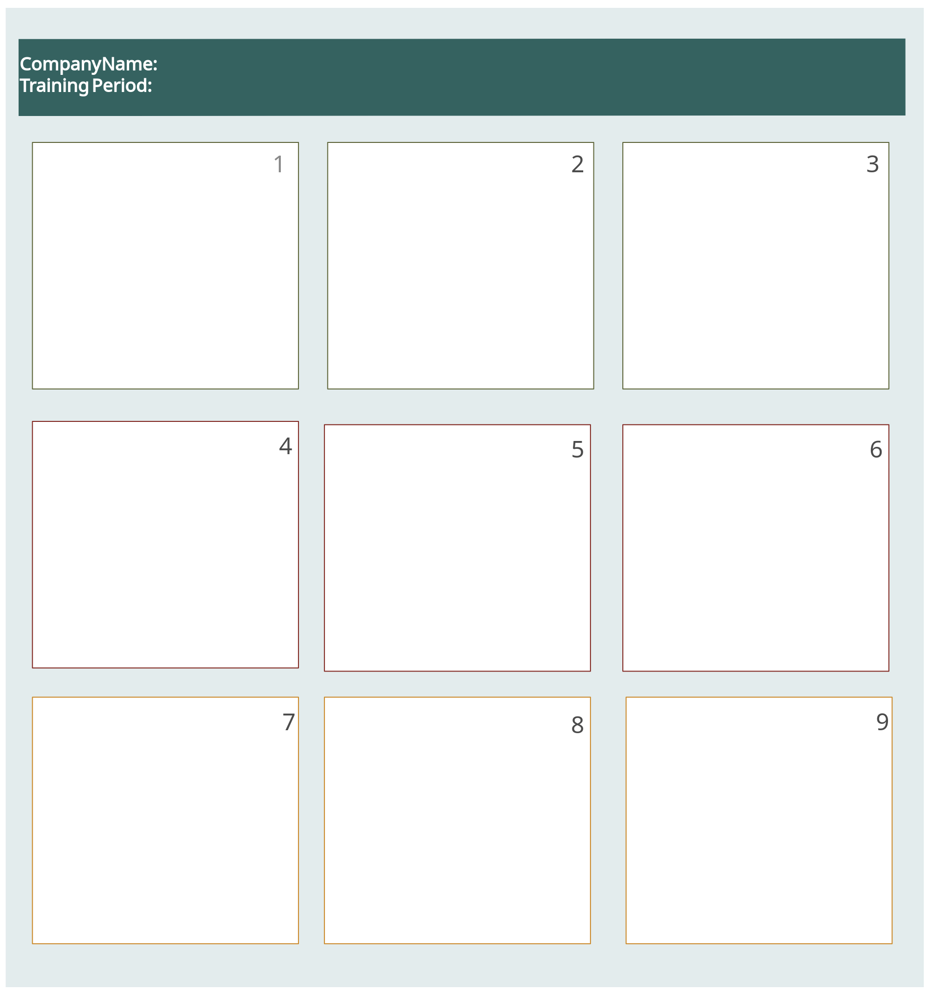 Storyboard Template for Employee Training